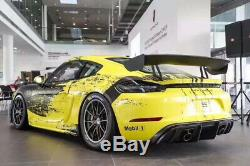 718 Cayman Boxster GT4 Style Body Kit Front Bumper Spoiler Diffuser For Porsche