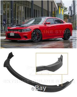 EOS For 15-Up Dodge Charger SRT 3PC Flat Black Front Bumper Lower Splitter Lip