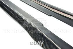 EOS For 16-19 Cadillac CTS-V CARBON FIBER Front Lip Side Skirts Rear Spoiler