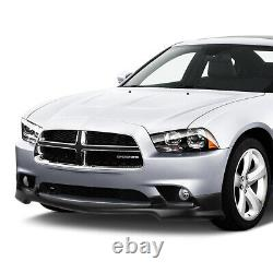 Fit 2011-2014 Dodge Charger Front Bumper Lip Splitter Chin Spoiler Wing Body Kit