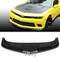 Fit 2014-2015 Chevy Camaro 1LE Style ABS Front Bumper Lip Spoiler Wing Body Kit