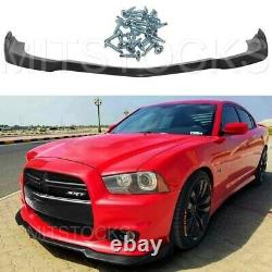 Fits 11-14 Charger SRT IKON Style ADD-ON Front Bumper Lip Spoiler Body Kit PU