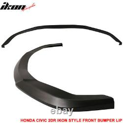 Fits 14-15 Civic 2DR Coupe IKON Style Front Bumper Lip PU
