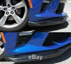 Fits 16-18 Chevy Camaro SS AC Style ADD-ON Front Bumper Lip Spoiler Body Kit PU