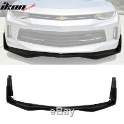Fits 16-18 Chevy Camaro V6 IKON Stingray Stage 3 Style Front Bumper Lip PU