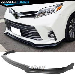 Fits 18-20 Toyota Sienna MP Style Front Bumper Lip Unpainted PU