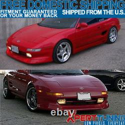 Fits 91-95 Toyota MR2 AW Aeroware Style Front Bumper Lip Unpainted PU