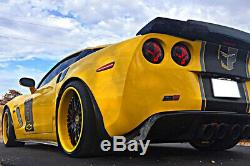 For 05-13 Corvette C6 C6.5 CARBON FLASH Rear Spoiler Smoke Tinted Wickerbill
