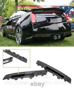 For 09-15 Cadillac CTS-V Coupe GM Style CARBON FIBER Rear Bumper Insert Cover