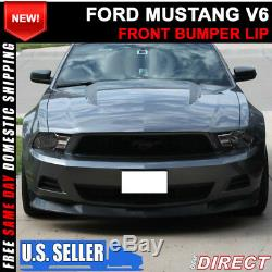 For 10-12 Ford Mustang V6 S Style Front Bumper Chin Lip Spoiler PU
