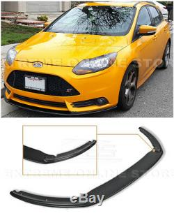 For 12-14 Ford Focus ST MK3 PRIMER BLACK Add-On Front Bumper Lower Lip Splitter