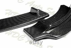 For 14-19 BMW F32 F33 F36 4-Series B-Style M-Sport Real Carbon Front Bumper Lip