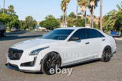 For 14-19 Cadillac CTS V-Style CARBON FIBER Front Bumper Lower Lip Splitter