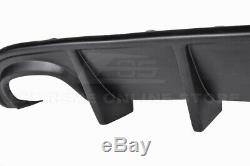 For 15-Up Dodge Charger SRT Factory Style Rear Bumper Diffuser Quad Exhaust