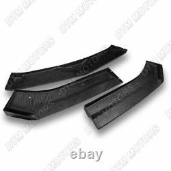 For 16-18 Chevy Camaro Real Carbon Fiber ZL1 Style Front Bumper Body Kit Lip 3PC