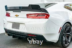For 16-Up Camaro Refresh ZL1 Track Front Lip Side Skirts Rear Wickerbill Spoiler