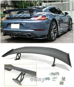 For 17-Up Porsche 718 Boxster Cayman GT4 Style Rear Trunk Lid Wing Spoiler Kit