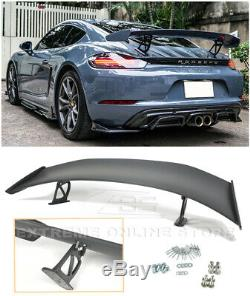 For 17-Up Porsche 718 Cayman & Boxster GT4 Style Rear Trunk Lid Wing Spoiler