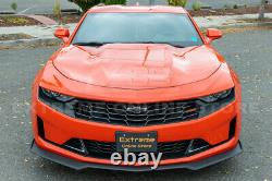 For 19-Up Camaro RS & SS Refresh ZL1 Style Front Bumper Lip Splitter Side Skirts