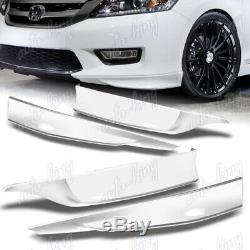 For 2013-2015 Honda Accord 4DR HFP Painted White Front + Rear Bumper Spoiler Lip