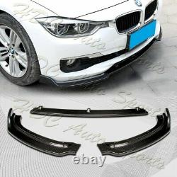 For 2013-2018 BMW F30 3-Series Base Real Carbon Fiber Front Bumper Body Lip 3PC