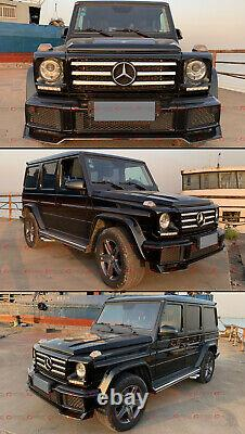 For 2016-18 Mercedes Benz G550 G500 W463 Black Front Bumper Lip Spoiler Body Kit
