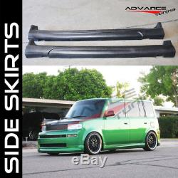 For Scion Xb Front Rear Bumper Lip+Side Skirts K-Style PU 03-07 Wagon 5Dr