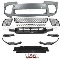 Front Bumper Cover Conversion Kit X6M Performance Style For BMW X6 2008-2014 E71