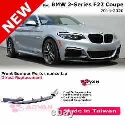 Front Bumper Lip M Performance Style For BMW 2-Series Coupe 2014-2020 F22