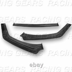 Gt-style Real Carbon Fiber Front Bumper Splitter Kit Lip Fit 18-20 Ford Mustang