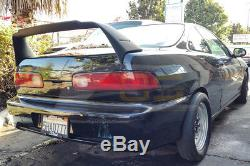 MUGEN Style ABS Plastic Rear Trunk Wing Spoiler For 94-01 Acura Integra 3Dr DC2