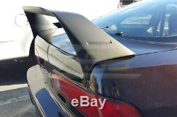 MUGEN Style Rear Trunk Wing Spoiler With Black Emblems For 94-01 Integra 3Dr DC2