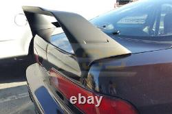 MUGEN Style Rear Trunk Wing Spoiler With Red Emblems For 94-01 Integra Hatchback