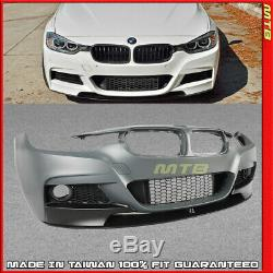 M Sport Front Bumper Kit For BMW 12-18 3 Series F30 F31 Performance Style Lip