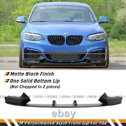Performance Style Front Lip Splitter For 2014-21 BMW F22 2 Series M Sport Bumper