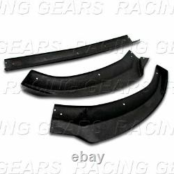 Real Carbon Fiber Front Bumper Lip 3pcs Fit 15-18 Mercedes-benz W205 C-class