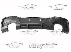 Rear Diffuser Bumper For Bmw Series 1 F20 11-15 Double Pipes Spoiler Body Kit