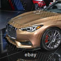 V-Style For 2017-2020 Infiniti Q60 Coupe Real Carbon Fiber Front Bumper Lip Kit